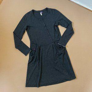 IBEX Grey Merino Wool Dress Performance Size M